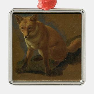 Study of a Fox (oil on panel) Christmas Ornament