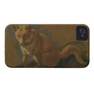Study of a Fox (oil on panel) iPhone 4 Case-Mate Cases