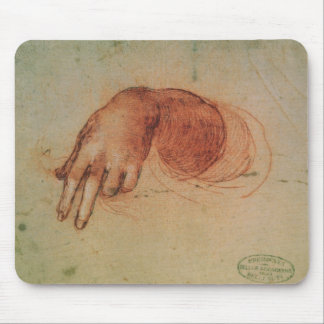 Study of a hand (red chalk on paper) mouse pad