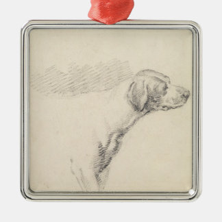 Study of a Hound, 1794 (pencil on paper) Christmas Ornament