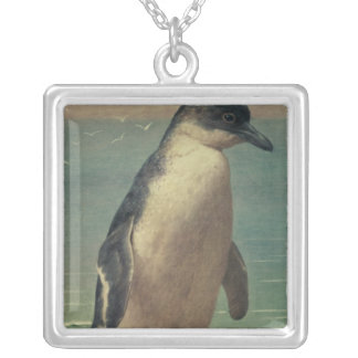 Study of a Penguin Silver Plated Necklace