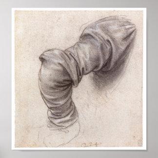 Study of a Sleeve Leonardo da Vinci Poster