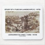 Study Of A Tuscan Landscape 1473 Leonardo da Vinci Mousepads