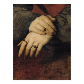 Study of a Woman's Hands Postcard
