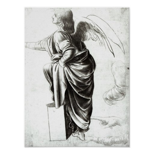 Study of an Angel Poster