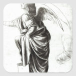 Study of an Angel Square Sticker