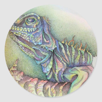 Study of An Iguana Classic Round Sticker