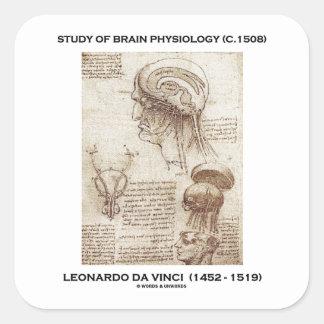 Study Of Brain Physiology c 1508 da Vinci Stickers