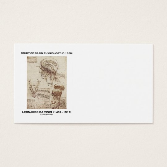 Study Of Brain Physiology (Leonardo da Vinci) Business Card