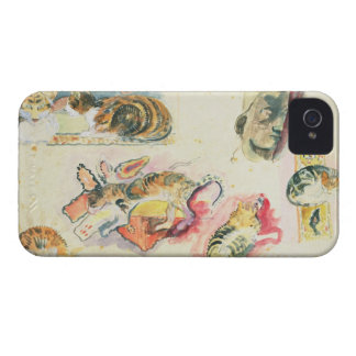 Study of Cats and a Head (w/c on paper) iPhone 4 Case-Mate Case