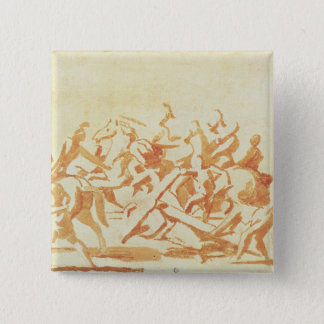 Study of Christ Carrying the Cross (chalk and wash 15 Cm Square Badge