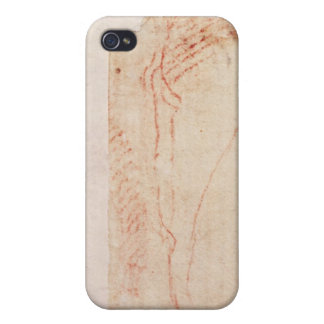 Study of Christ's feet nailed to the Cross iPhone 4 Covers