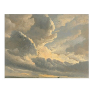 Study of Clouds with a Sunset near Rome Postcard