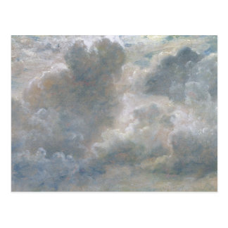 Study of Cumulus Clouds, 1822 (oil on paper laid o Postcard