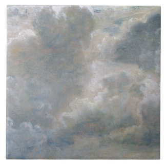 Study of Cumulus Clouds, 1822 (oil on paper laid o Tile