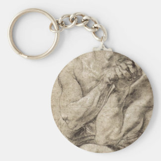 Study of Daniel in the lion's den by Paul Rubens Key Ring