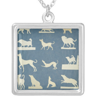 Study of Dogs Silver Plated Necklace