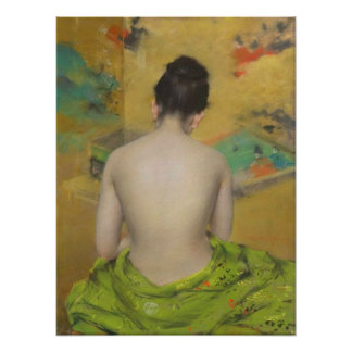 Study Of Flesh Color and Gold  by Wm Merritt Chase Poster