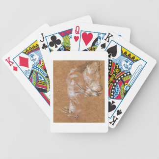 Study of Goats (drawing) Bicycle Playing Cards