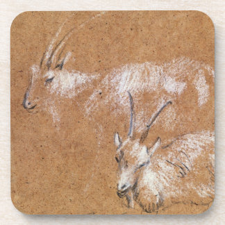Study of Goats (drawing) Coaster