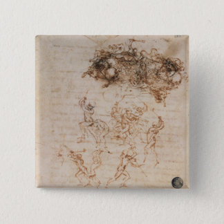 Study of Horsemen in Combat and Foot Soldiers, 150 15 Cm Square Badge