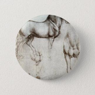 Study of horses - Leonardo da Vinci 6 Cm Round Badge