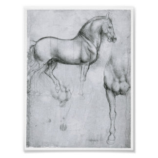 Study of Horses, Leonardo Da Vinci Posters