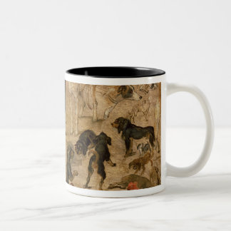 Study of Hounds, 1616 Two-Tone Coffee Mug