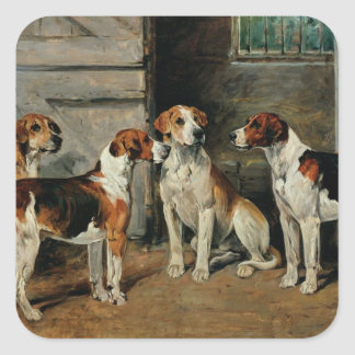 Study of Hounds Square Sticker