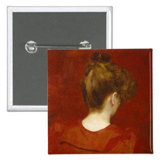 Study of Lilia, 1887 (oil on canvas) 15 Cm Square Badge