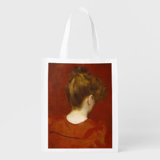 Study of Lilia, 1887 (oil on canvas) Reusable Grocery Bag