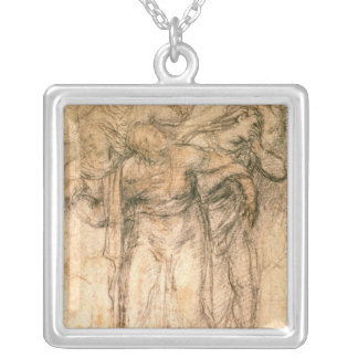 Study of Mourning Women Silver Plated Necklace