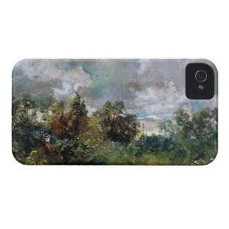 Study of Sky and Trees (oil on canvas) iPhone 4 Cases
