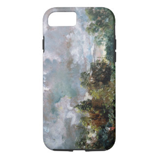 Study of Sky and Trees (oil on canvas) iPhone 8/7 Case
