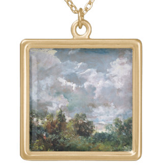 Study of Sky and Trees (oil on canvas) Necklace