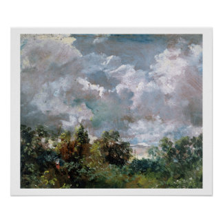 Study of Sky and Trees (oil on canvas) Poster