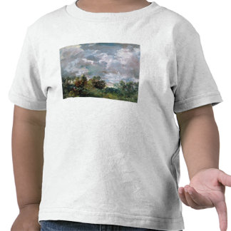 Study of Sky and Trees oil on canvas Shirt