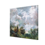 Study of Sky and Trees (oil on canvas) Stretched Canvas Print