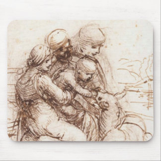Study of St Anna, St John, Mary, Christ Child Mouse Pad
