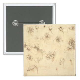 Study of the Flowers of Grass-like Plants (Briza M 15 Cm Square Badge