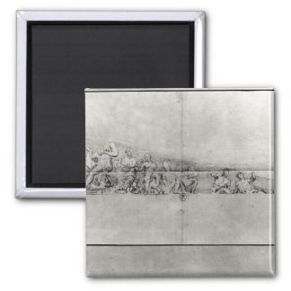Study of the frieze from a pediment square magnet