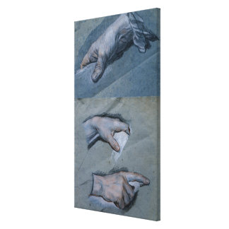 Study of the Hands of a Man Canvas Print