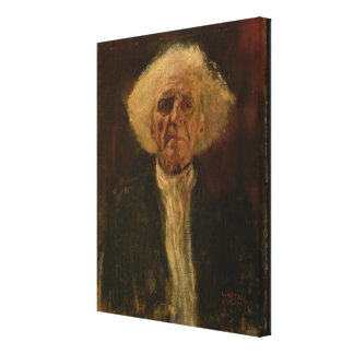 Study of the Head of a Blind Man (oil on canvas) Canvas Print