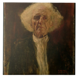 Study of the Head of a Blind Man (oil on canvas) Large Square Tile