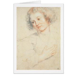 Study of the Head of St. Apollonia (drawing) Greeting Card