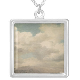 Study of the Sky at Quirinal Silver Plated Necklace