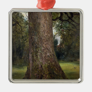 Study of the Trunk of an Elm Tree, c.1821 (oil on Silver-Colored Square Decoration