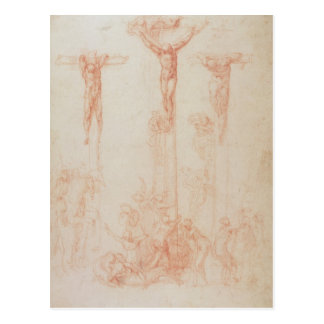 Study of Three Crosses Postcard