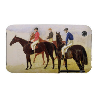 Study of Three Steeplechase Cracks: Allen McDonoug iPhone 3 Covers