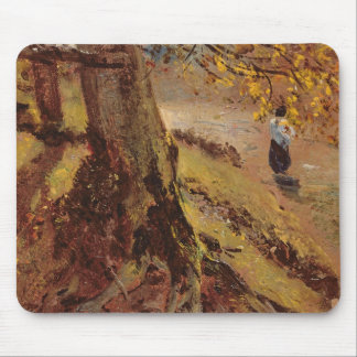 Study of tree trunks mouse pad